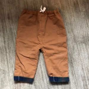 Boys Flannel lined pants